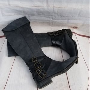 Sam Edelman Pia Leather Flat Knee High Boots